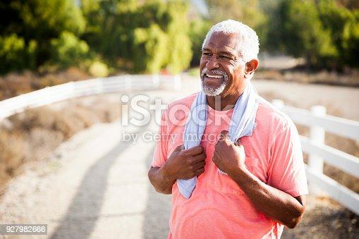 istock Senior Black Man After Workout 927982666