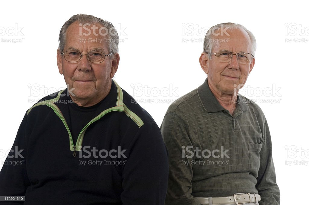 Senior Brothers royalty-free stock photo