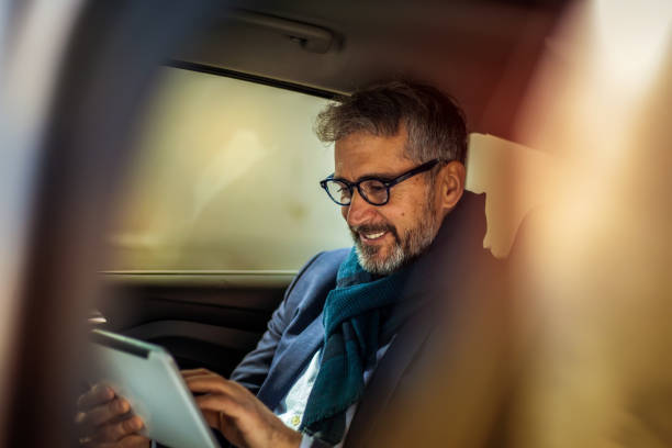 Senior busiessman in the car Serbia, Active Seniors, Adult, Adults Only, Back Seat, Businessman wealth stock pictures, royalty-free photos & images