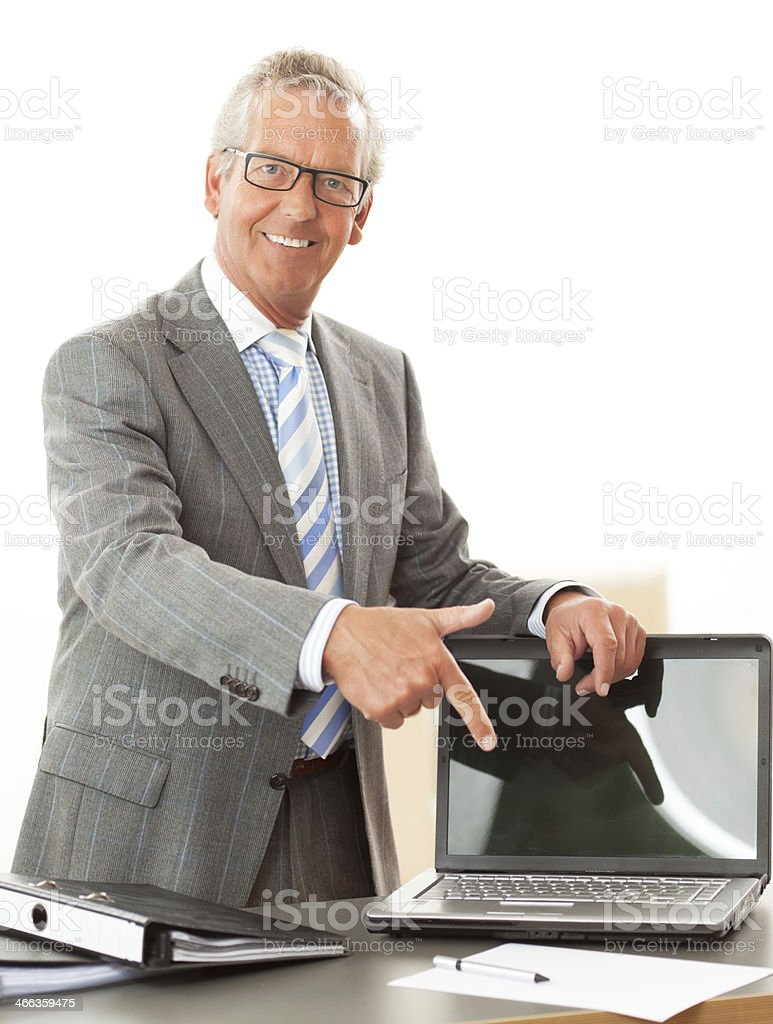 senior business man stock photo