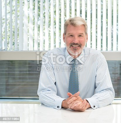 istock Senior business man 492511984