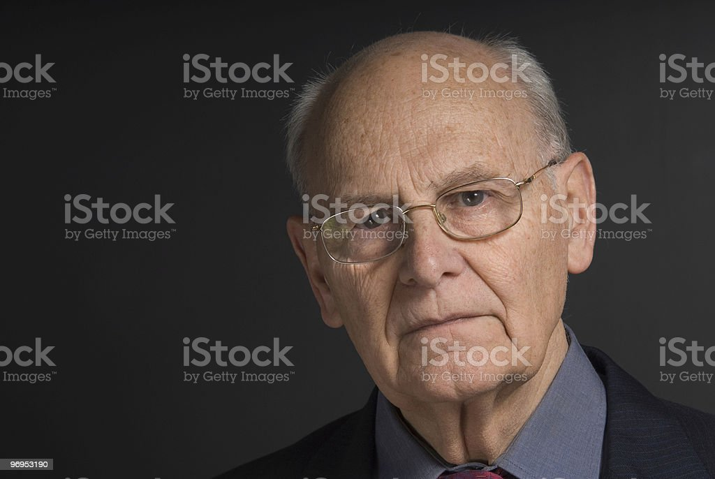 Senior business man royalty-free stock photo