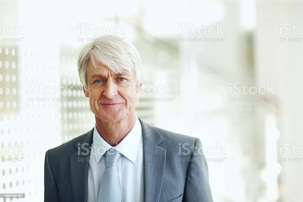 Senior business man smiling royalty-free stock photo