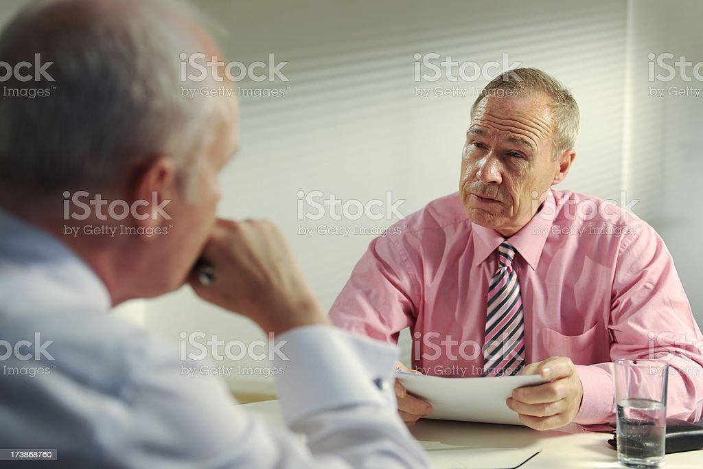 senior business men in meeting royalty-free stock photo