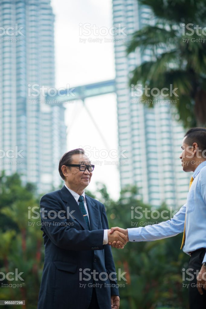 Senior business menortship royalty-free stock photo
