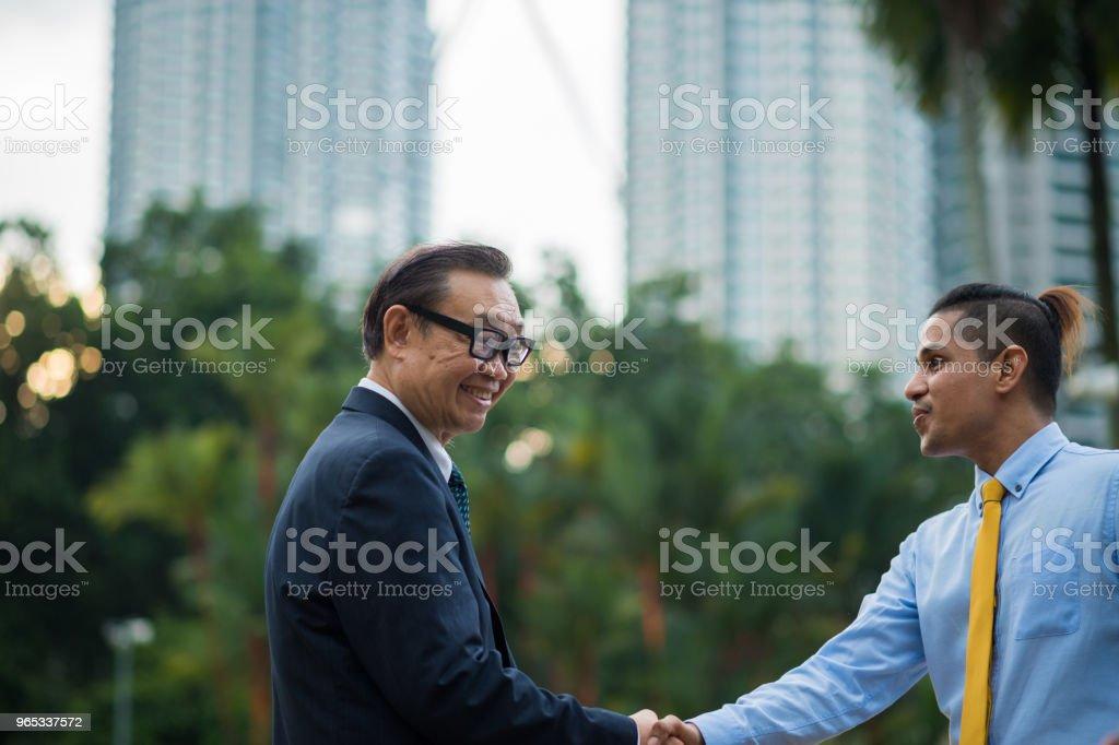 Senior business menortship royalty-free stock photo