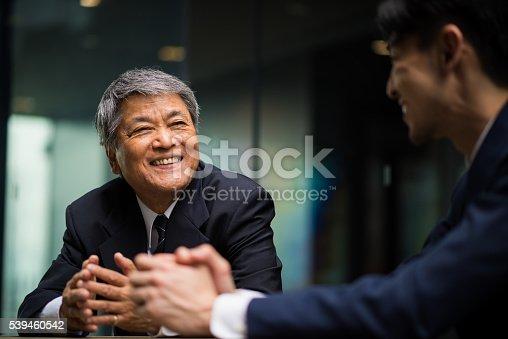 istock Senior Business mentor 539460542