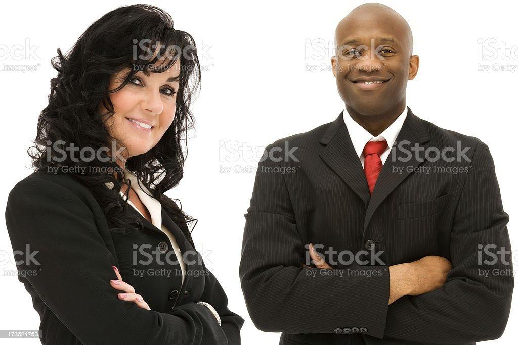 Senior Business team Businesswoman businessman African American ethnic isolated suit royalty-free stock photo