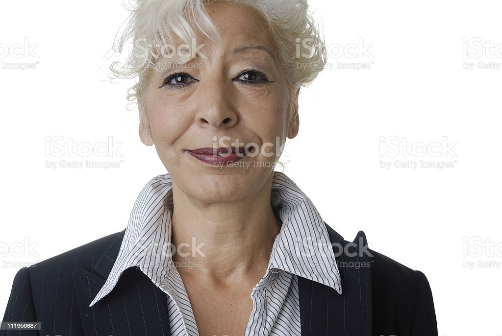 senior business woman royalty-free stock photo