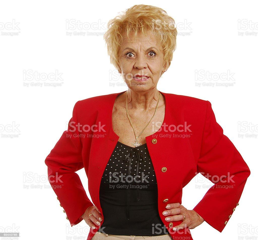 Senior Business-Frau Lizenzfreies stock-foto