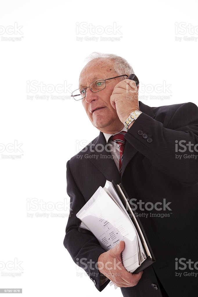 Senior businessman call royalty-free stock photo