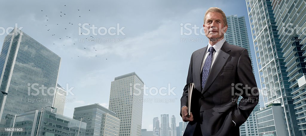 senior businessman in city royalty-free stock photo