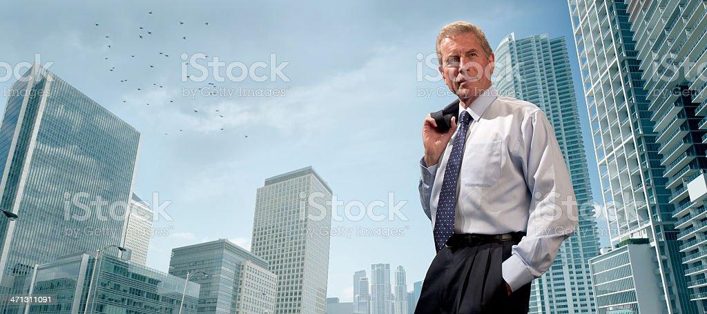 senior businessman in city royalty-free stock photo