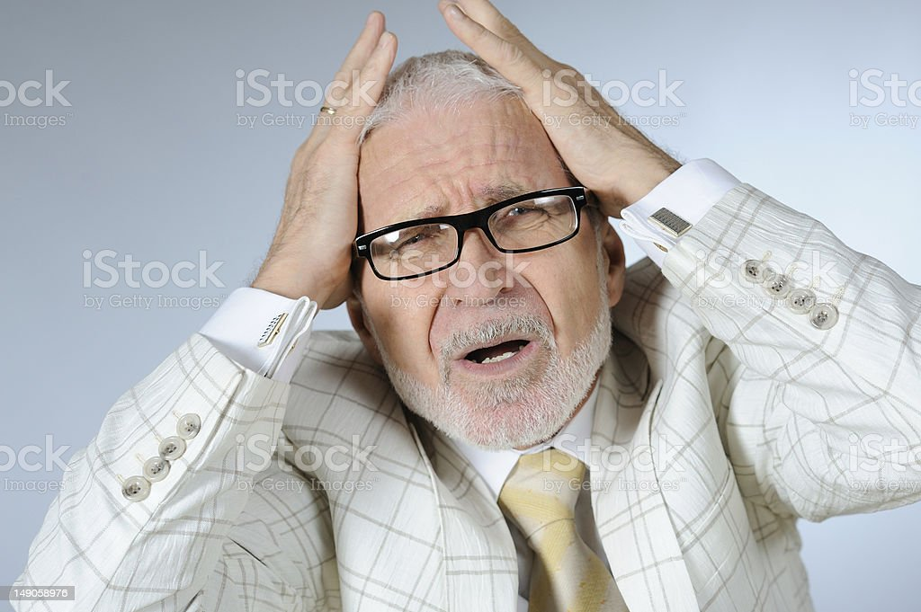 Senior businessman royalty-free stock photo