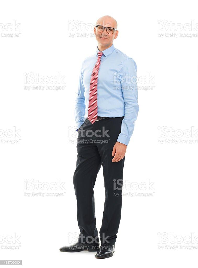 Senior businessman portrait stock photo