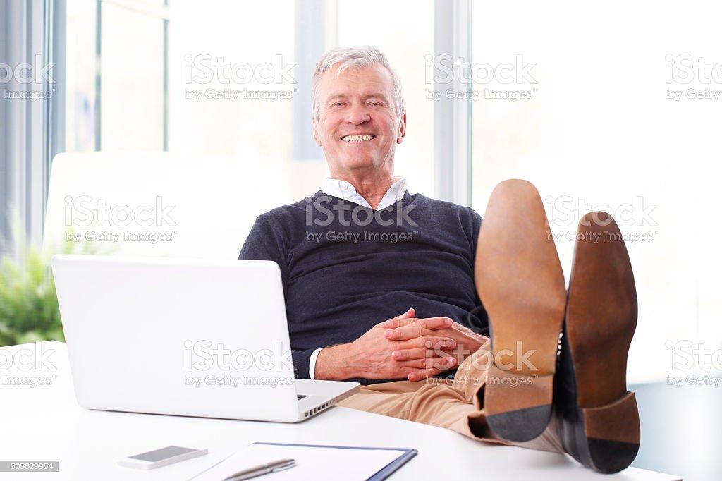 Retrato de hombre de negocios Senior - foto de stock