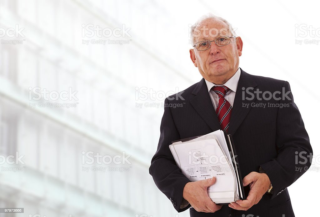 Senior businessman working royalty-free stock photo