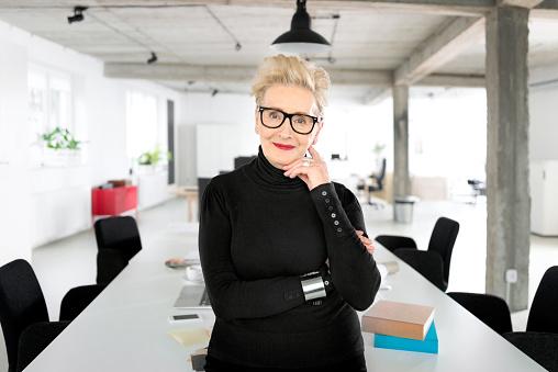 Senior Businesswoman In The Studio Stock Photo - Download Image Now