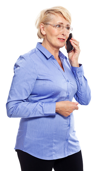 Senior Businesswoman On The Phone Stock Photo - Download Image Now