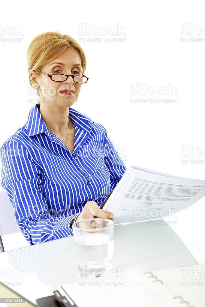 Senior businesswoman stock photo