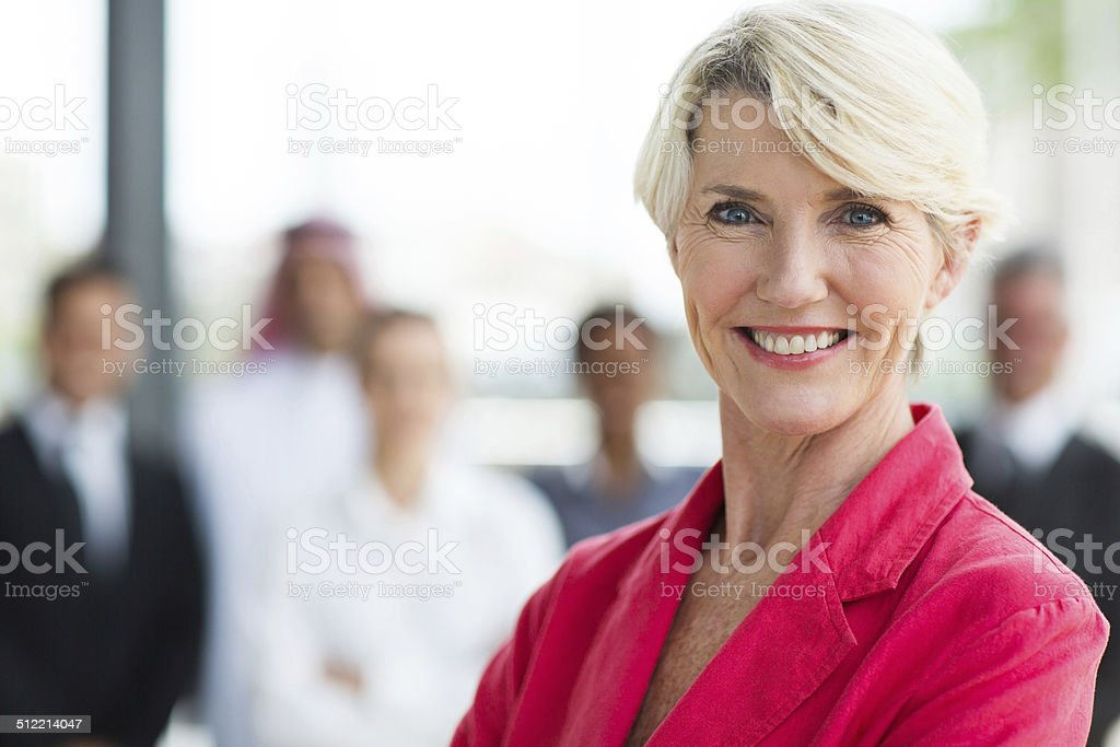 senior businesswoman stock photo