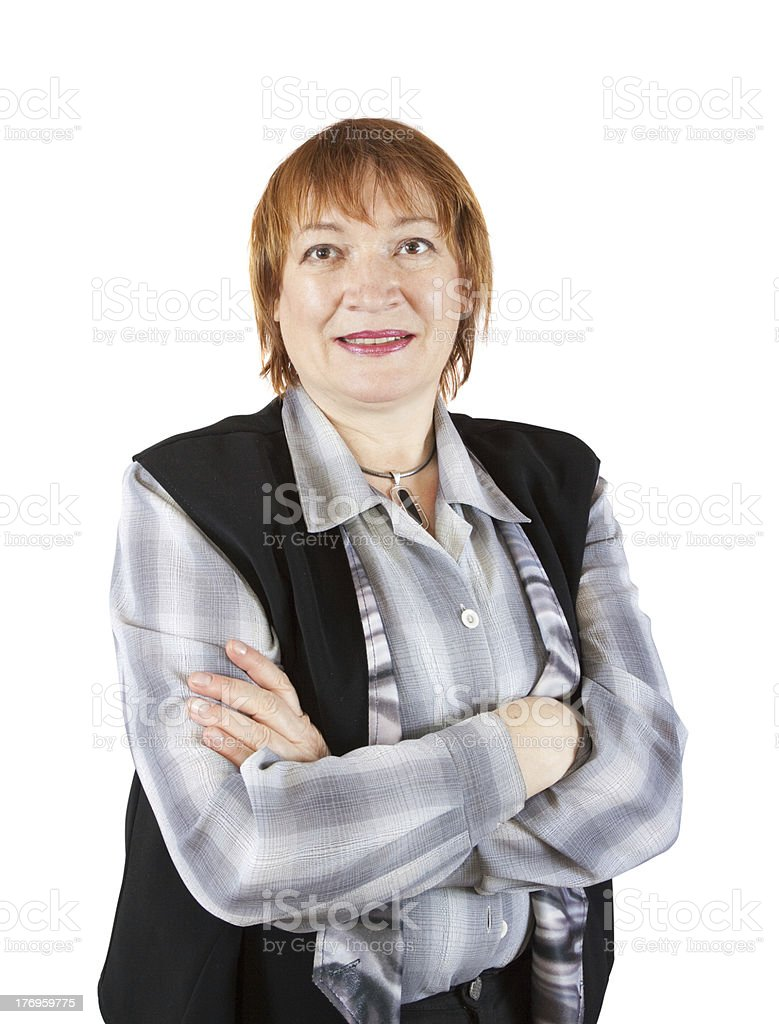 senior businesswoman  portrait royalty-free stock photo