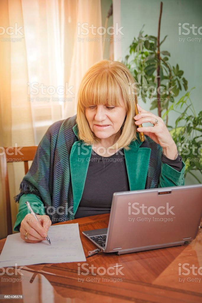 Senior businesswoman working royalty-free stock photo