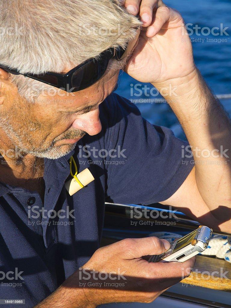 Senior calling royalty-free stock photo