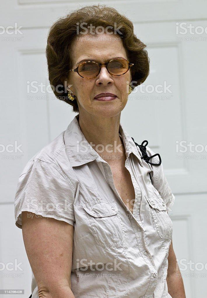 Senior caucasian female royalty-free stock photo