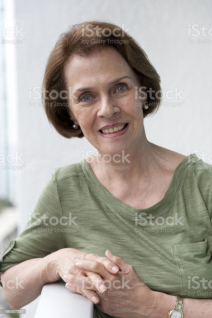senior caucasian woman royalty-free stock photo