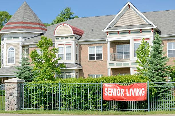 Senior Center A fancy senior center for those who can afford the good life in retirement. retirement community stock pictures, royalty-free photos & images