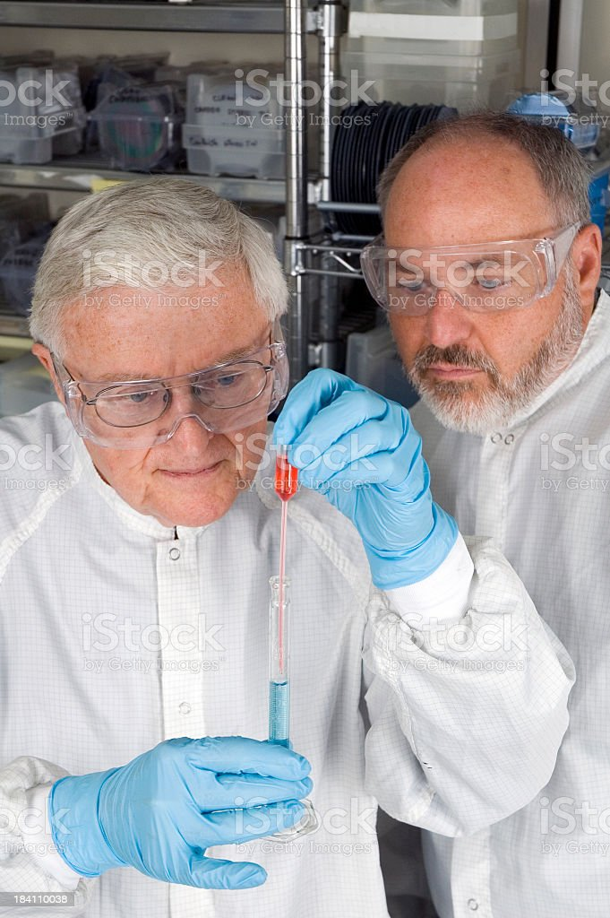 Senior Chemical Technician and Assistant stock photo