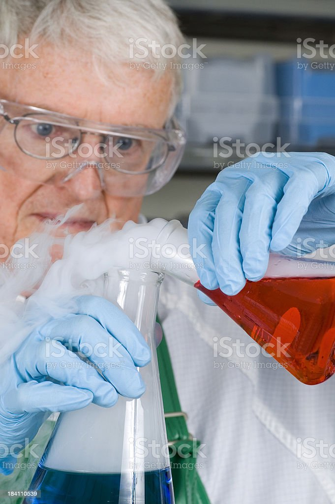 Senior Chemist royalty-free stock photo