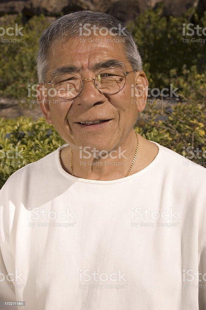Senior Chinese Male royalty-free stock photo