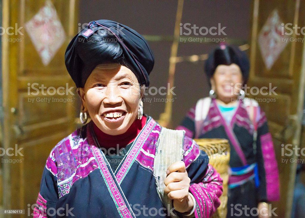 Senior Chinese Minority Woman stock photo