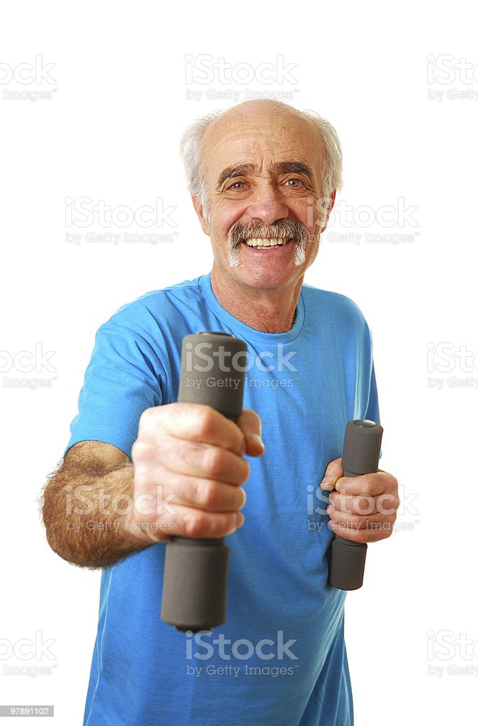 Senior citizen exercising royalty-free stock photo