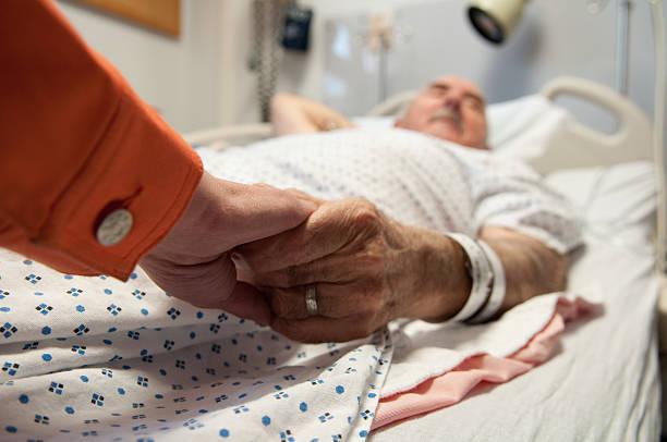 senior citizen - hospital sick - death stock photos and pictures
