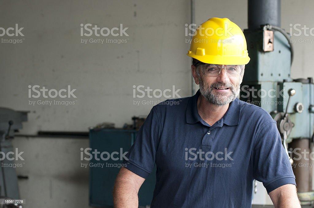 Senior Citizen Male Employee Blue Collar Worker stock photo