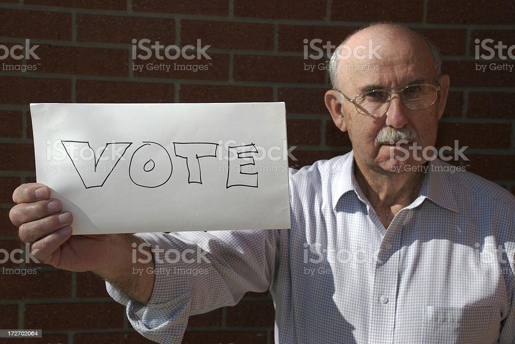 Senior Citizen Voter royalty-free stock photo