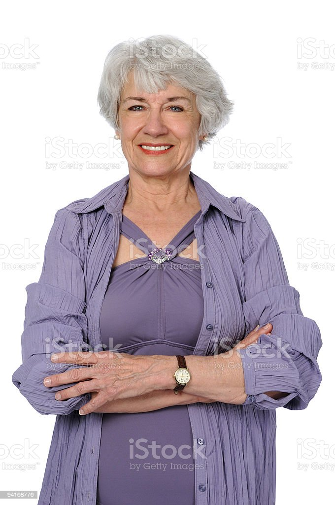 Senior Citizen With Arms Crossed royalty-free stock photo