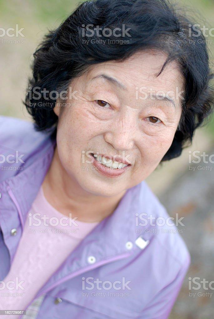 Senior close up royalty-free stock photo