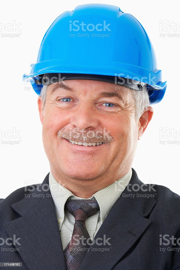 Senior construction worker royalty-free stock photo