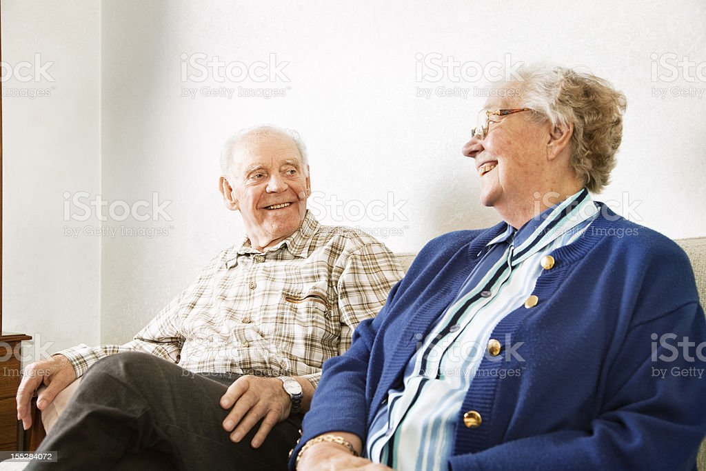 senior couple at home love royalty-free stock photo