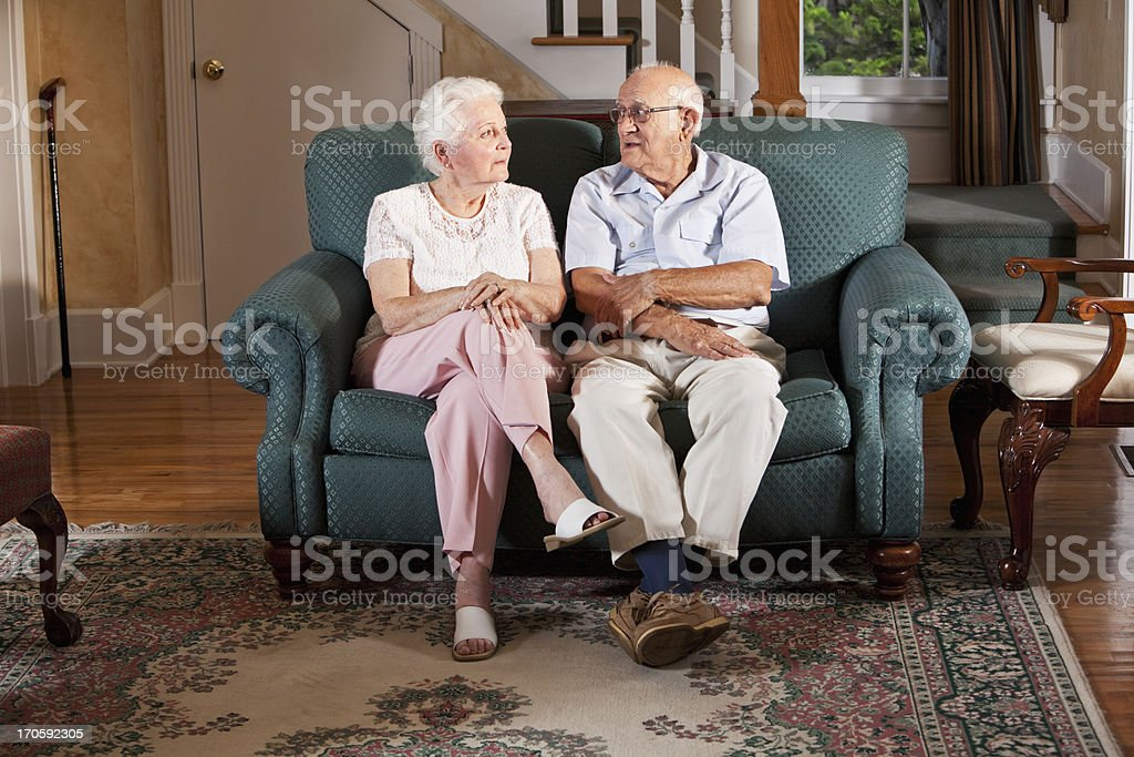 Senior couple at home royalty-free stock photo