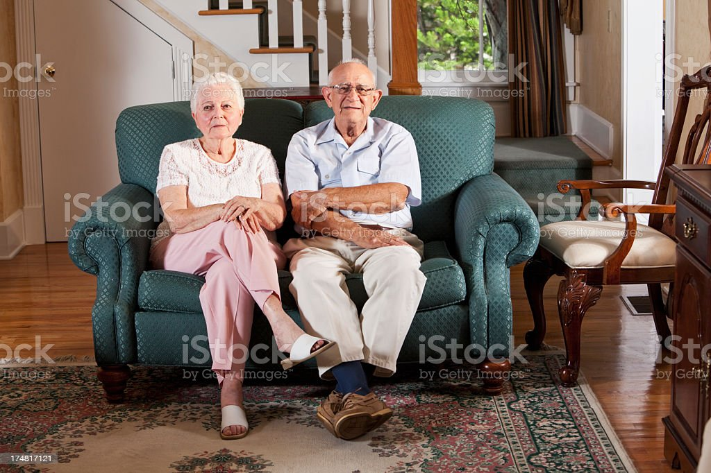 Senior couple at home royalty-free stock photo