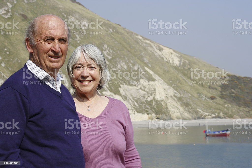 Senior couple by the sea. royalty-free stock photo