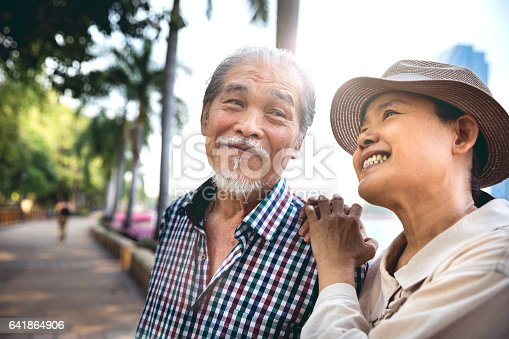 istock Senior couple candid moments together having a vacation 641864906