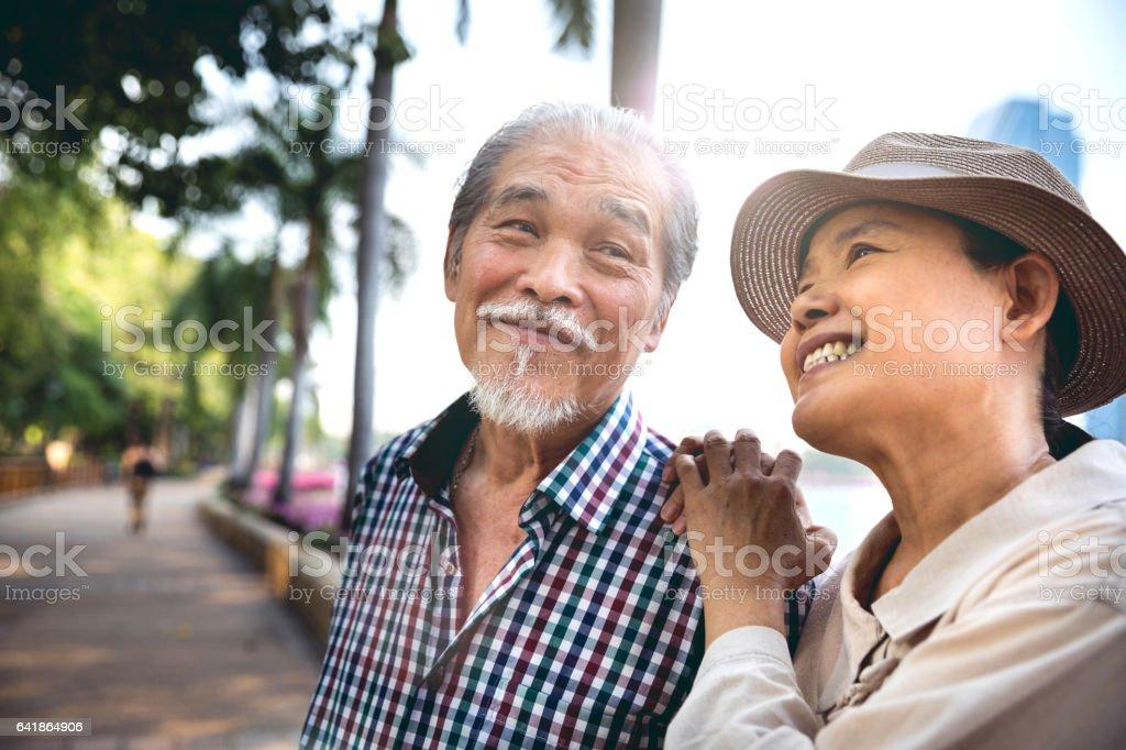 高級夫婦坦白的時候一起度假圖像檔