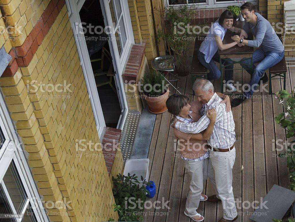 Senior Couple Embracing royalty-free stock photo