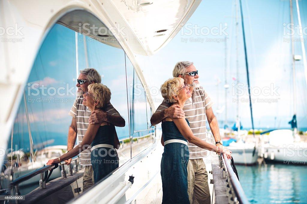 Senior Couple Enjoying On Vacations stock photo